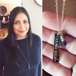 A customized coordinate necklace!