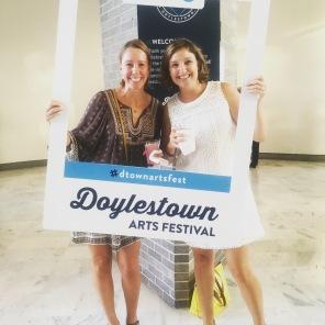Having fun at the Doylestown Arts Festival!
