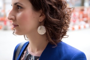 Shell earrings in NYC!